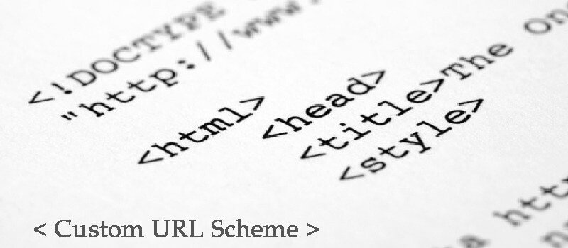 Ask Your Front End Website Developer About Custom URL Scheme